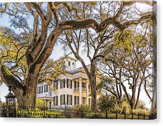 Antebellum Mansion Canvas Print