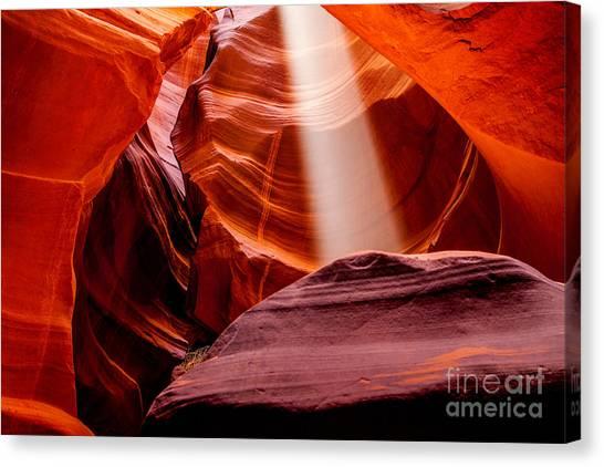 Formations Canvas Print - Antelope Canyon Beam by Az Jackson