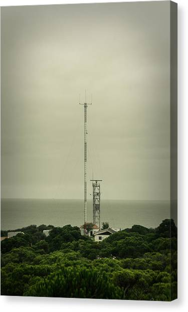 Tv Tower Canvas Print - Antenna by Marco Oliveira