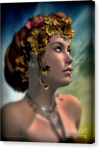 Antheia Canvas Print by Sandra Bauser Digital Art