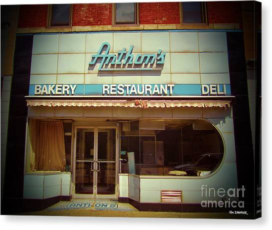 50s Canvas Print - Anthon's Bakery Pittsburgh by Jim Zahniser