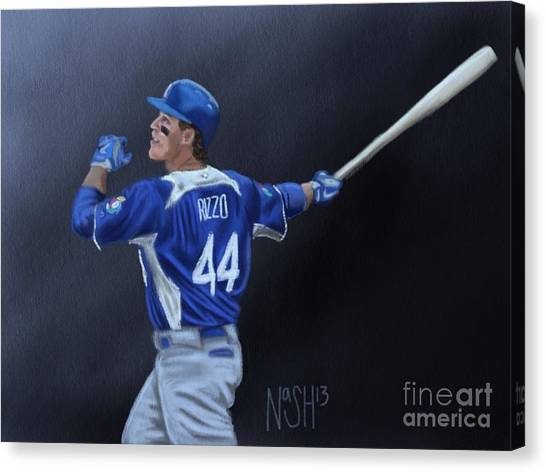 San Diego Padres Canvas Print - Anthony Rizzo by Jeremy Nash