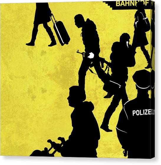 Big Brother Canvas Print - Anti-terrorism Police by Smetek