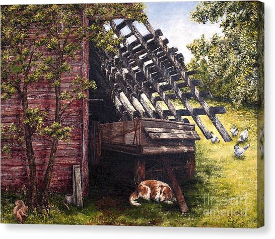 Anticipation - Farm Life Canvas Print