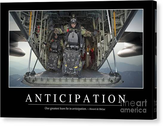 Navy Seal Canvas Print - Anticipation Inspirational Quote by Stocktrek Images