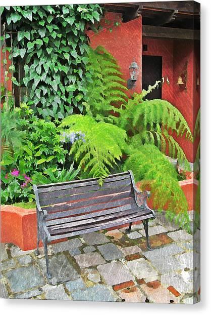 Antigua Bench Canvas Print