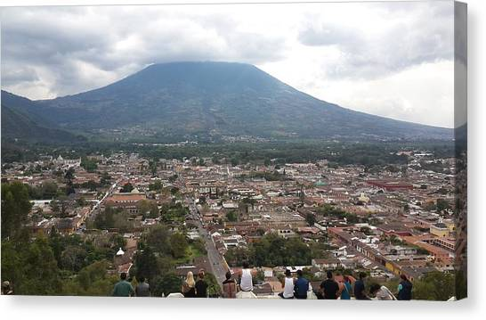 Volcanoes Canvas Print - Antigua Guatemala by Josias Tomas