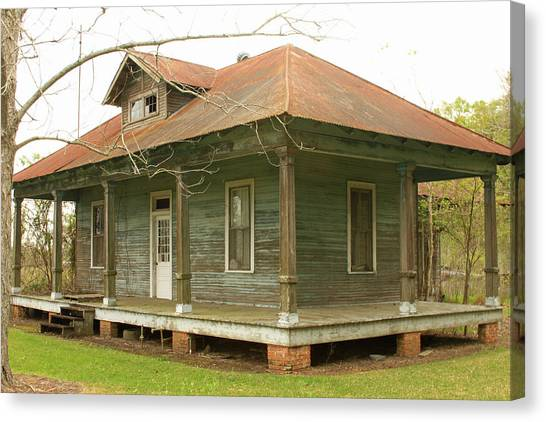 Antique And Abandoned House Canvas Print