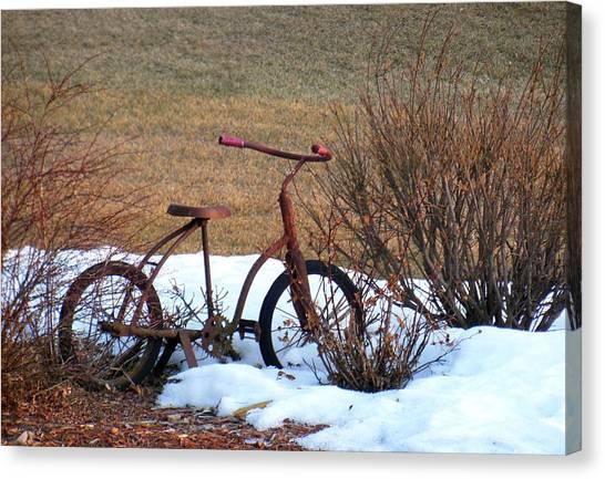 Antique Bike Canvas Print