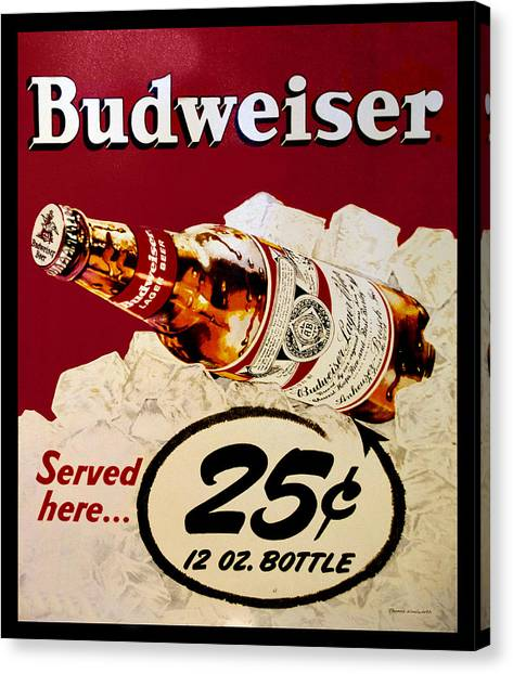 Antique Budweiser Signage Canvas Print