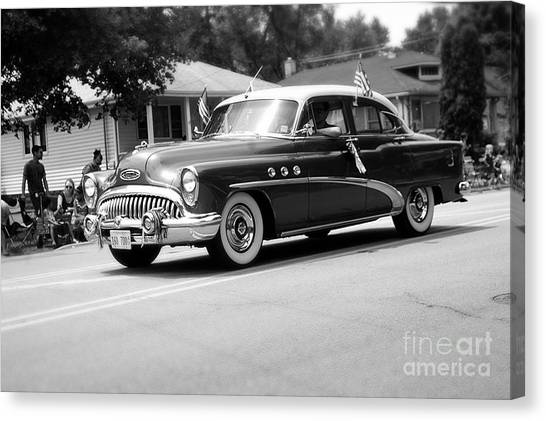 Antique Car Parade Canvas Print