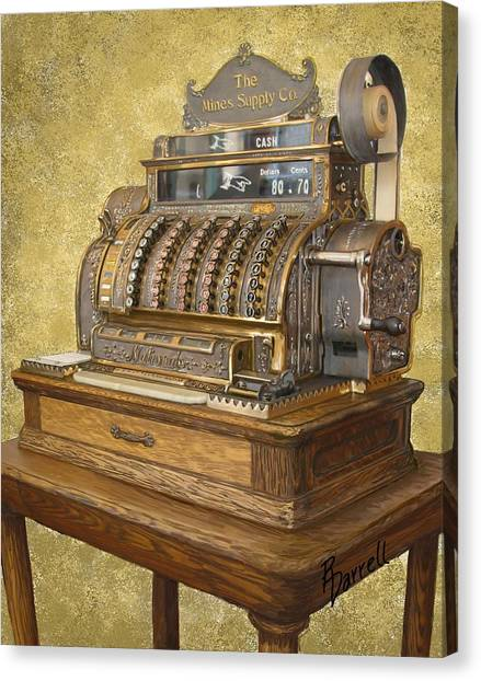 Antique Cash Register Canvas Print