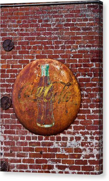 Antique Coke Sign 2 Canvas Print