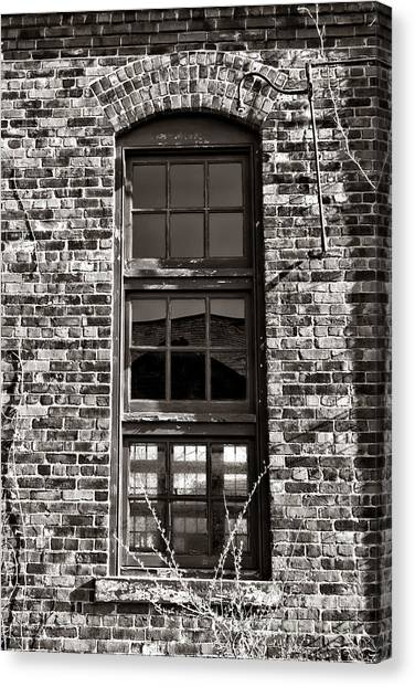 Warehouses Canvas Print - Antique Factory Window by Olivier Le Queinec