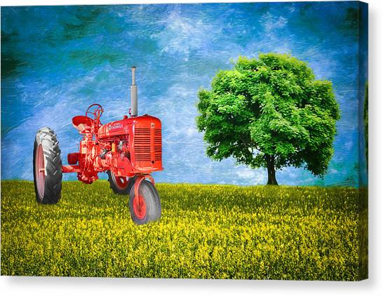 Antique Farmall Tractor Canvas Print