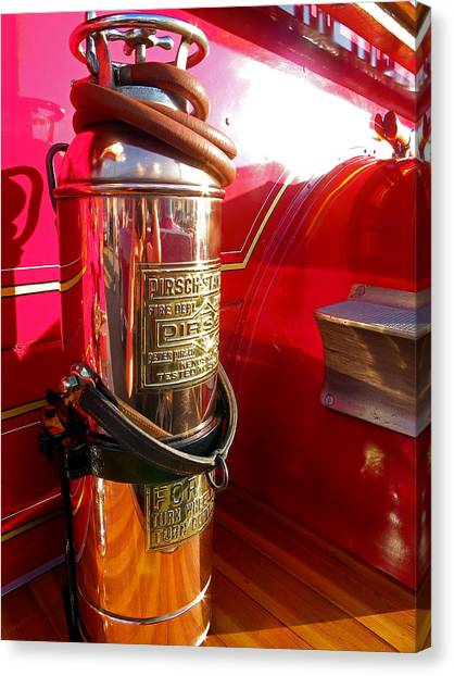 Antique Fire Extinguisher Canvas Print