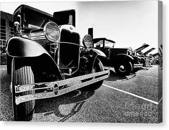 Antique Ford Car At Car Show Canvas Print