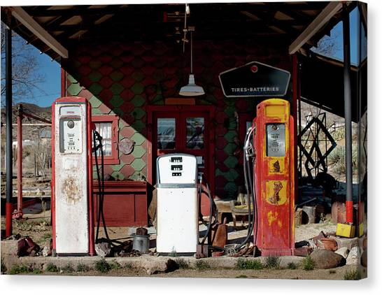 Antique Gas Station Canvas Print