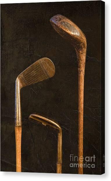 Antique Golf Clubs Canvas Print