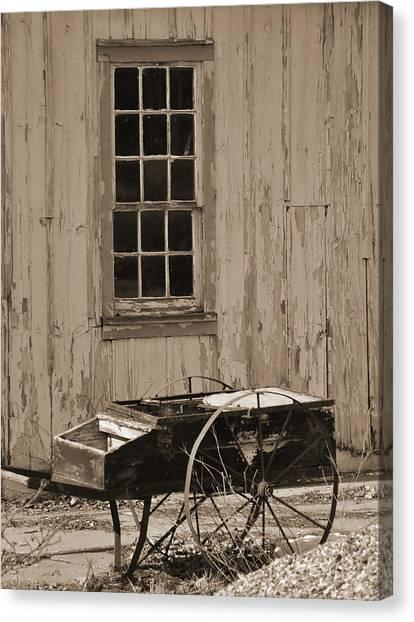 Antique Hay Cart Canvas Print