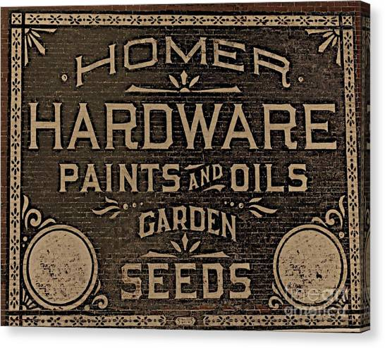 Antique Homer Hardware Canvas Print