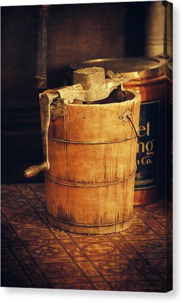 Antique Ice Cream Maker Canvas Print