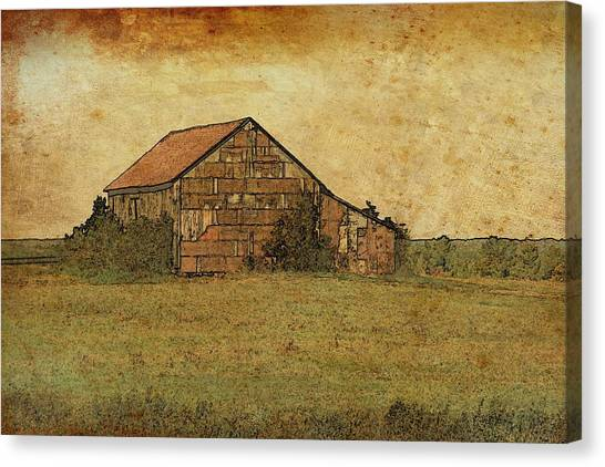 Antique Little Barn Canvas Print