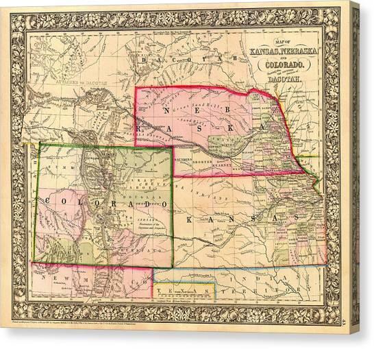 Nebraska State Map Art | Fine Art America