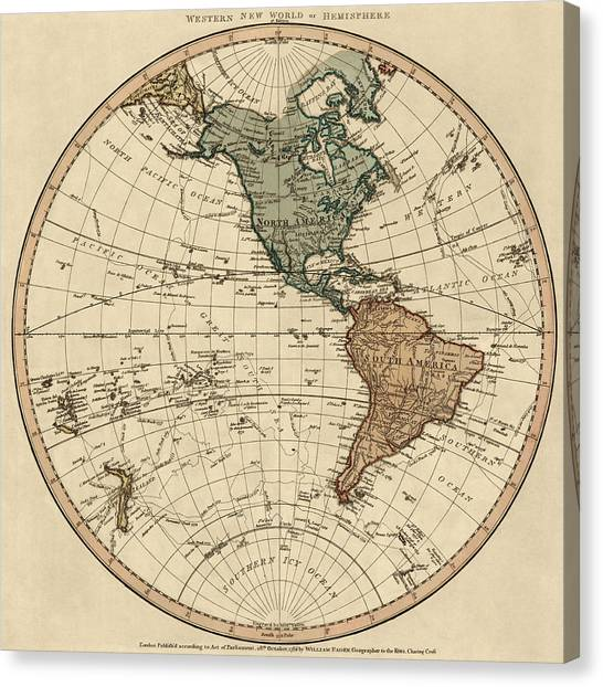 Hemispheres A World Of Fine Furnishings: Antique Map Of The Western Hemisphere By William Faden