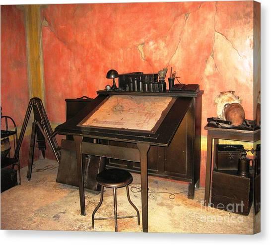 Antique Nautical Desk Canvas Print