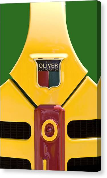 Tractor Canvas Print - Antique Oliver Tractor by Tom Mc Nemar
