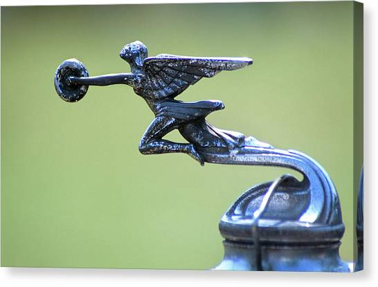 Motoring Canvas Print - Antique Packard Automobile Hood Ornament by Vintage Images