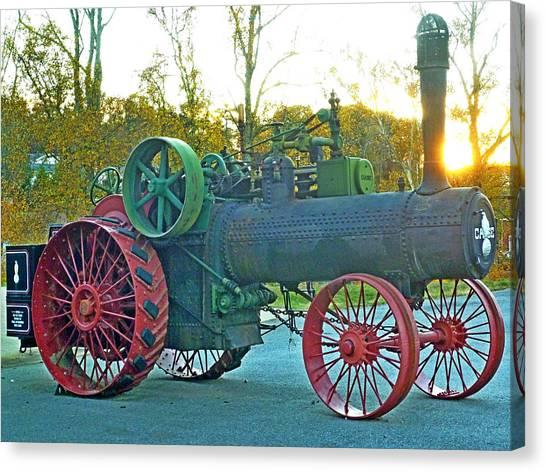 Antique Steam Tractor Canvas Print