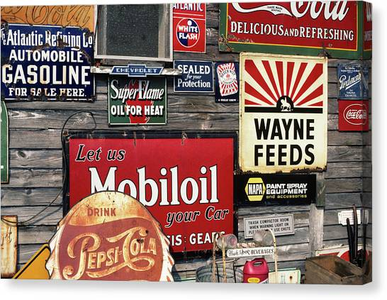 Pepsi Canvas Print - Antique Store Featuring Old Brand Name by Vintage Images