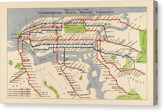 new york city subway map canvas print antique subway map of new york city