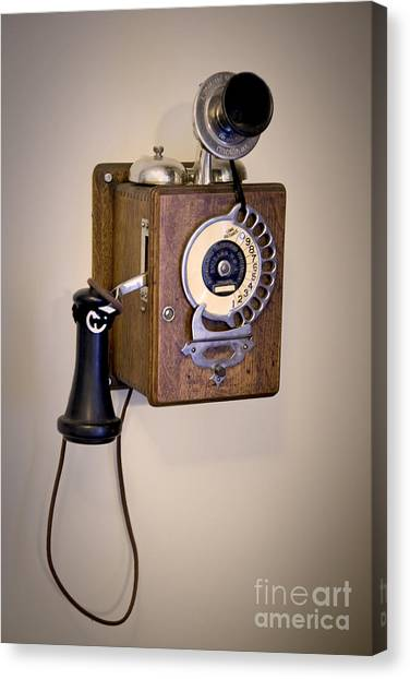 Antique Telephone Canvas Print