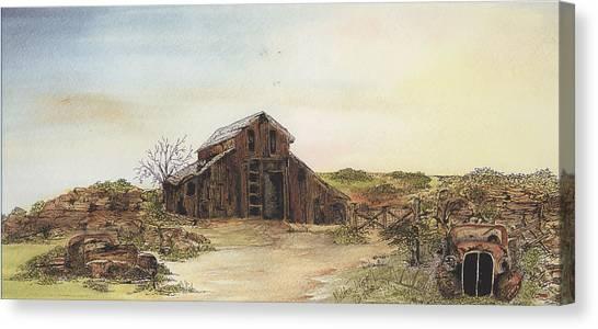 Antique Trilogy Hide And Seek Canvas Print