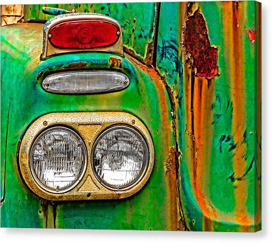 Turn Signals Canvas Print - Antique Truck Lights by William Jobes