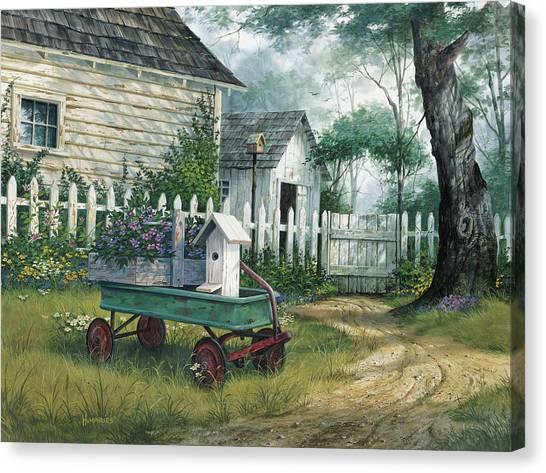 Antique Canvas Print - Antique Wagon by Michael Humphries