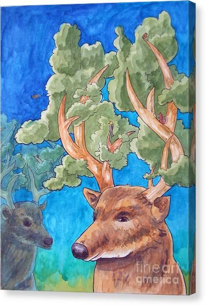 Antler Ecosystem Canvas Print