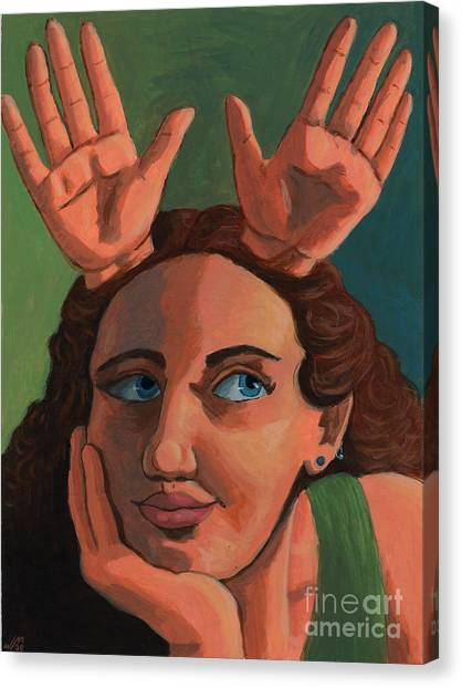 Antlered Girl Canvas Print