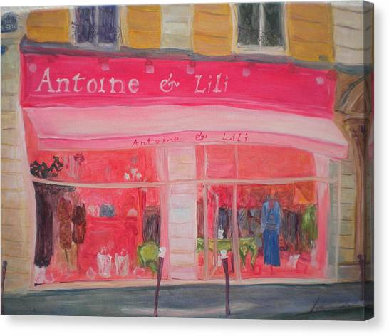 Parisian Canvas Print - Antoine & Lili, 2010 Oil On Canvas by Antonia Myatt