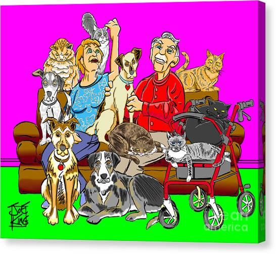 Antonow Family Portrait Canvas Print by Joe King