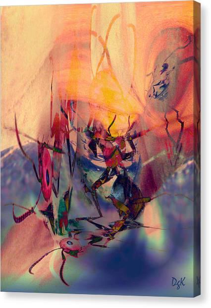 Antsy Dance Canvas Print