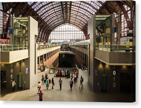 Antwerp-centraal Station Canvas Print