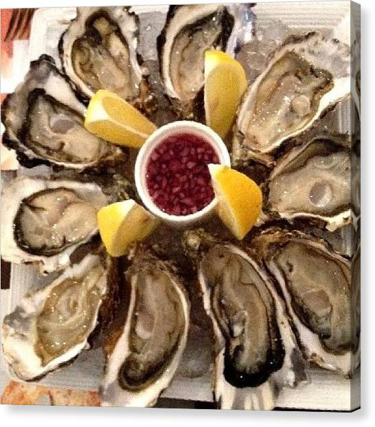 Oysters Canvas Print - Anyone Care For Some Fresh Oysters For by Ck Chai
