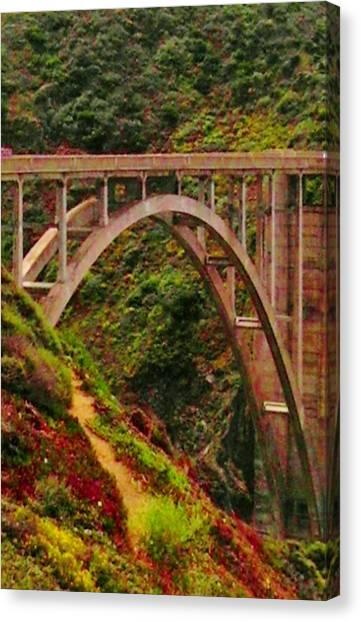 Anyone Seen The Bridge Canvas Print by Sharon Costa