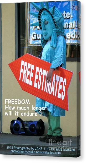 Obamacare Canvas Print - Anyones Guess by Joe Jake Pratt