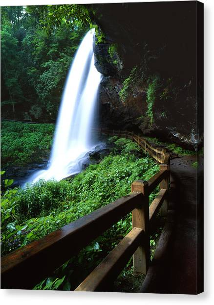 Cullasaja Falls Canvas Print - Anything But Dry Falls by Ray Mathis