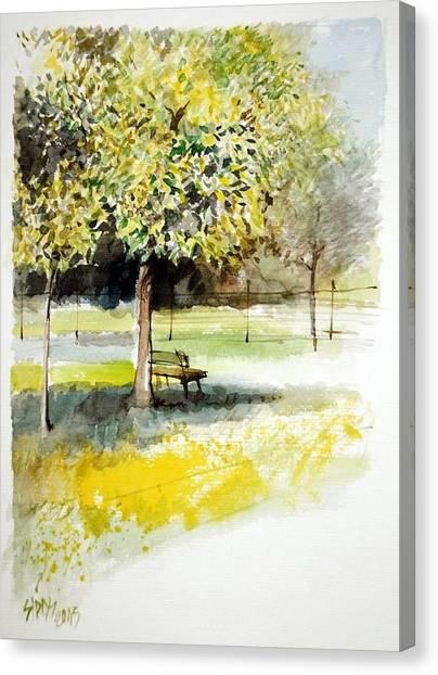 Autumn Shadows Canvas Print by Lorand Sipos